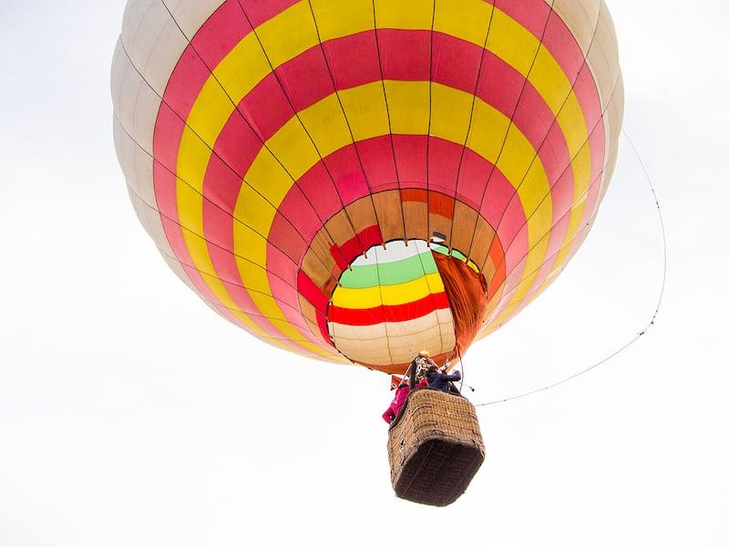 Полет на воздушном шаре в Сходница