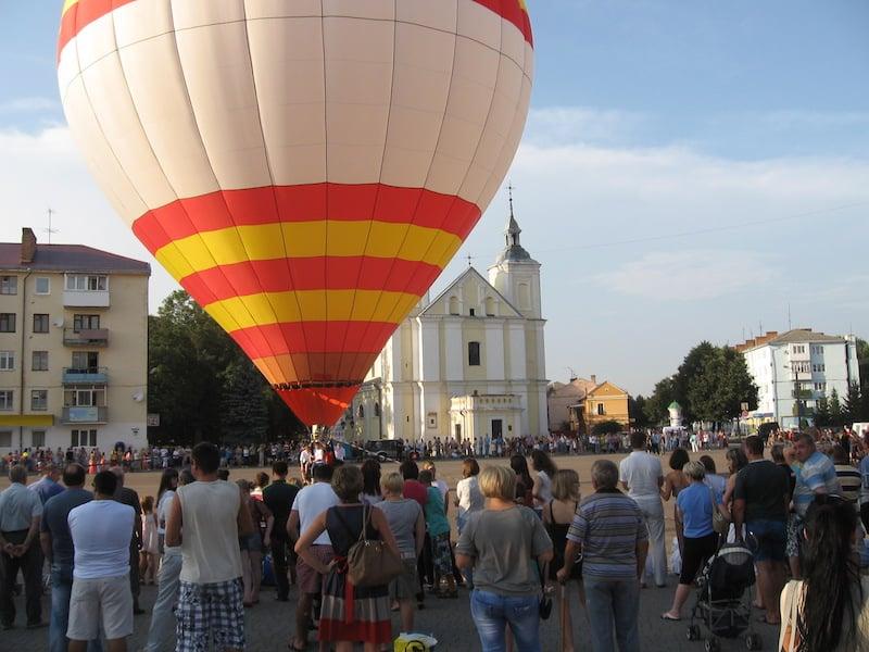 Полет на воздушном шаре в Жолква