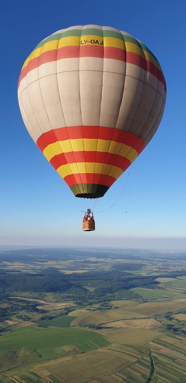 прогулка на воздушном шаре в Мукачево